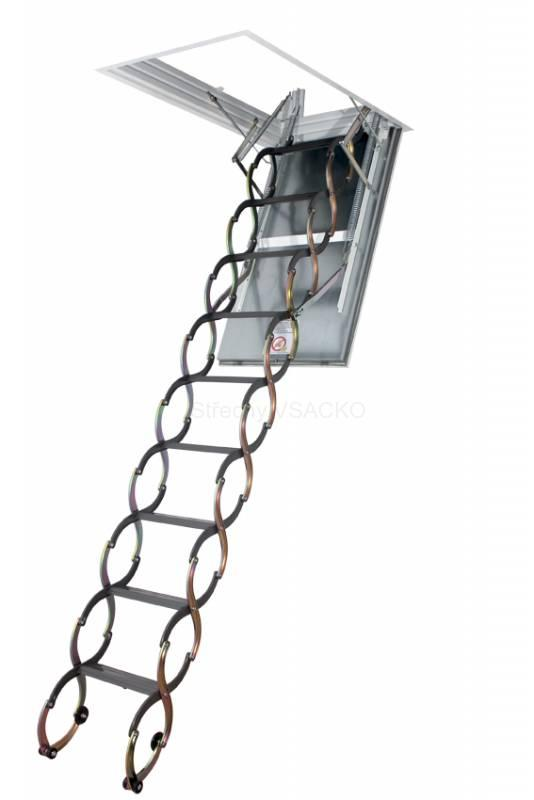 Protipožární skládací půdní schody FAKRO LSF třídílné